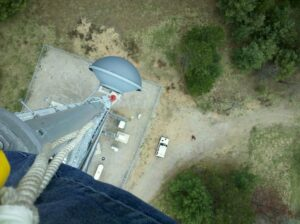 200' on one of our towers